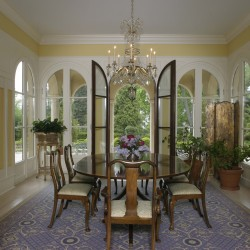 Dining Room with French Doors Open
