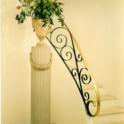 Curved Staircase with Custom Railing