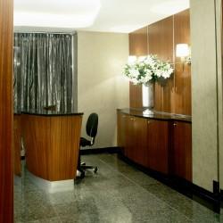 Concierge Desk and Built in Credenza